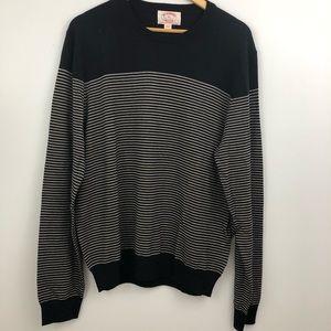XL BROOKS BROTHERS striped crew neck sweater